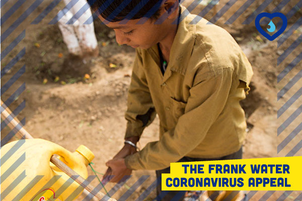 young boy washing his hands in reference to teh frank water coronavirus appeal