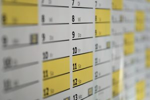 A closeup of a calendar, alluding to the lifespan of the different systems discussed